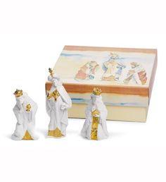 LLADRO - SET THREE WISE MEN (RE-DECO) lladro 07150, men redeco, figurin set, 07150 set, lladro christma, wise men, set three, lladro redeco, three wise