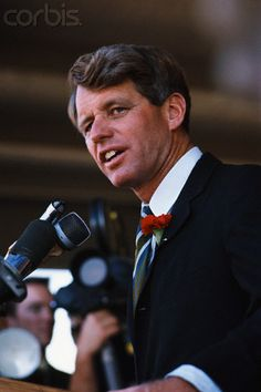 Robert Kennedy on Presidential Campaign Trail  Date Photographed:1968