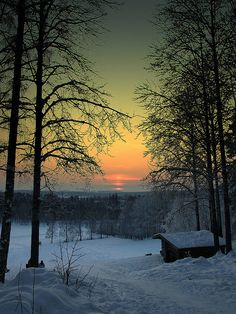 sweden, sunsets, sunris, snow, cabins, beauti, winter scenes, place, barn houses