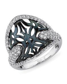 2013 JCK Jewelers' Choice Award Winner: Best Ring Design Under $2,500: Tasha R 18k Blue Mystique ring with blue-gold accents and 0.5 ct. t.w. diamonds; $2,129 #TashaR #JCK #diamonds