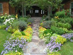Gorgeous pathway to front door!