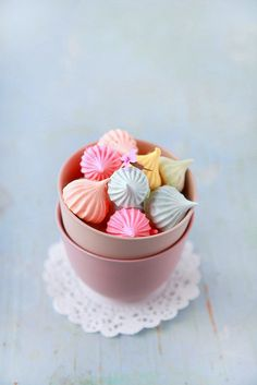 colorful Meringues by Emilie Guelpa