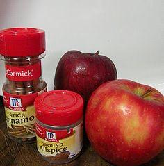 apples, cinnamon, nutmeg. stovetop potpourri