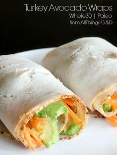 Turkey Avocado Wraps - one of my favorite Paleo & Whole30 recipes for lunch! | www.allthingsgd.com