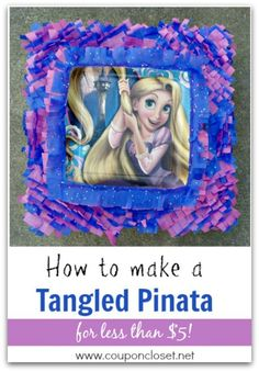 Learn how easy it is to make a Tangled Pinata for under $5, which is much cheaper than the store bought ones. You can apply these techniques to any birthday party theme.  This is so easy to make.  http://www.couponcloset.net/how-to-make-a-tangled-pinata/ birthday parties, parti fun, parti idea, parti time