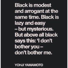 Yohji on black.