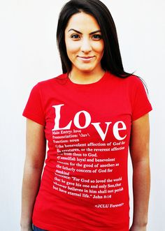 $17.99 -LOVE DEFINED -Christian T-Shirt by JCLU Forever Christian t-shirts