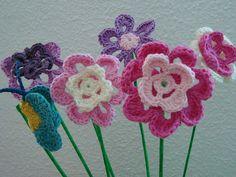Flores de crochet en www.kittelisa.com
