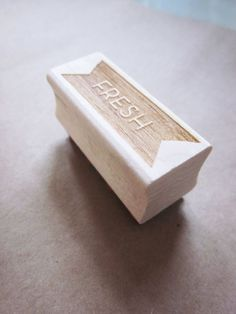 'fresh' rubber stamp from yoursistheartshop