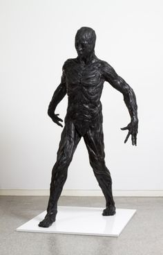 tire art on the playground | Recycled tire art… Man 1, 2011, 90 x 100 x 180 cm, Used tire ...