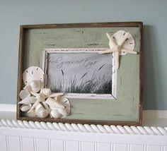 Beach Decor Shell Frame ...cute!
