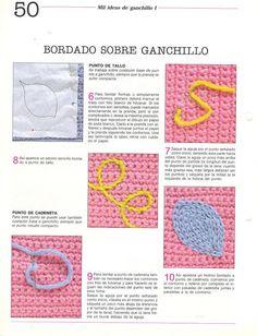 BORDADO SOBRE GANCHILLO