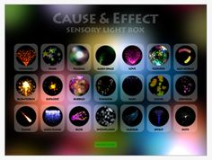 Cause and Effect Sensory Light Box App from OT's with Apps by Carol Leynse Harpold OT. Pinned by SOS Inc. Resources @sostherapy.