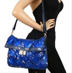 bag repin, overs clutch, blue metal, clutch bags