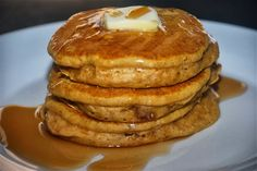 Homemade Pumpkin Pancakes- Easy to make with ingredients that you have in your pantry. Proof that pancakes are not just for breakfast anymore.