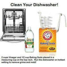 Clean dishwasher