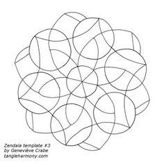 zendala - combo of zentangles and mandelas mandela, interest art, zendala templates, color, zentangl string, zentangle templates, art suppli, doodl draw, mandala