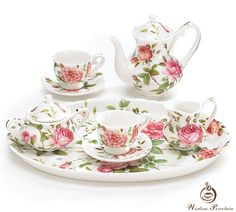 Fine bone china tea set_Wisdom Porcelain. Posted by Redlandspoodles.com