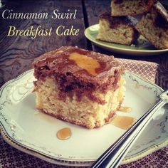 Post image for Cinnamon Swirl Breakfast Cake. (Grain/Gluten/Dairy/Soy Free) With directions to make sugar free.