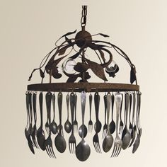 Another utensil chandelier to drool over.  Gotta make one of these.  (arhaus.com)(Expensive!) (Cheap to make, though.) :)