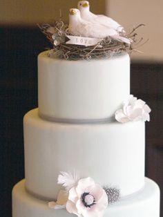 dove cake, cake wedding, weddings, blue cakes, wedding cakes, rose cake, birds, fondant cakes, cake toppers