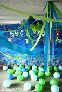 Under the Sea Party Ideas. #SeaTheme #Party #Decorations (http://swelldish.blogspot.com/) #Petes #Seafood #PetesSeafood (http://www.peteseafoodclub.com)