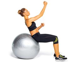 The Flat-Abs-Fast Secret: Workouts: Self.com : Shhhh...it's a stability ball. Try these six moves and you'll have a tone tummy in no time. #SELFmagazine