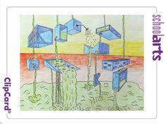 Mini Matisse: SchoolArts Magazine Aug./Sept. 2014- Drip, Drip, Drop perspective drawing
