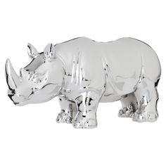Nate Berkus Decorative Rhino Figural - Silver