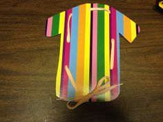 """Joseph's Coat:  Easy idea, use colorful striped paper/cardstock, punch holes and have the kids """"sew"""""""