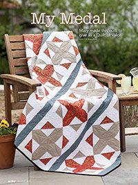 My Medal Quilt Digital Pattern from ShopFonsandPorter.com. Enjoy this Quilt of Valor!