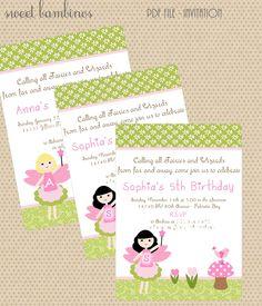 Enchanted Fairy Party Invitation
