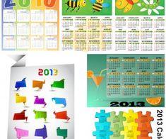 2013 calendar templates vector