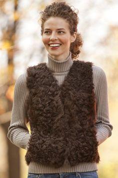 Women`s Kalgon Curly Lamb Vest $189.00