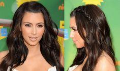 Hidden Braid- 2013 Hair Trends #KimKardashian