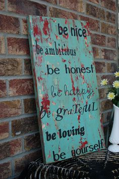 NEW very shabby chic rustic vintage family rules by kspeddler, $70.00
