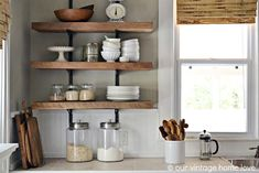 Industrial shelving is totally on-trend right now! Check out our take here: http://www.bhg.com/blogs/better-homes-and-gardens-style-blog/2014/07/03/organize-with-this-industrial-shelving/?socsrc=bhgpin080114industrialshelving