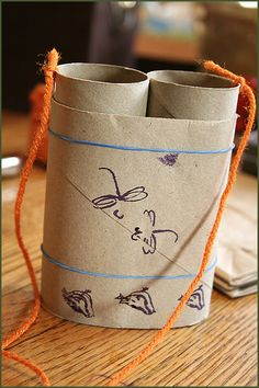 Got lots of empty toilet paper rolls? Use them to make super cool binoculars with your child.