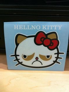 kitty cats, hello kitti, hellnokitti, grumpy kitty, grumpi cat, funni, hello kitty, grumpy cats, hellno kitti