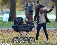 Kate Middleton Pushing Prince George in Stroller
