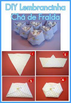 Baby Shower Diaper Souvenir - Lembrança Chá de Fralda