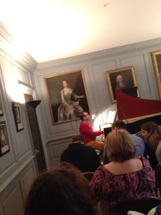 Preparing for solo appearances with Tim Sharp at The Handel House!