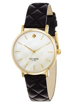 kate spade new york 'metro grand' quilted strap watch available at #Nordstrom