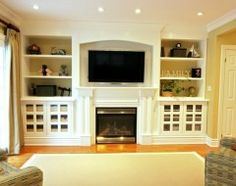 I want to do something similar to this with built in shelving