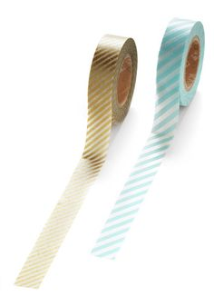 Glad to Adhere It Tape Set in Teal and Gold