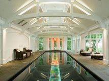 Pool with backlit glass trough, really nice looking!