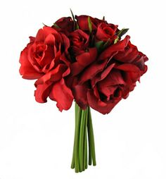 Confetti Rose Bouquet in Burgundy Red | Wedding Flowers silk roses wedding bouquet bridal red roses only $12.49