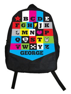 Rock star alphabet backpack for kids