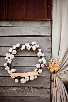 Winter wedding inspiration - raw cotton