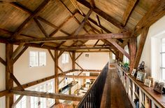 old barn wood, exposed beams, boston, ceiling design, equestrian estat, dream hous, farmhouse, vaulted ceilings, old barns